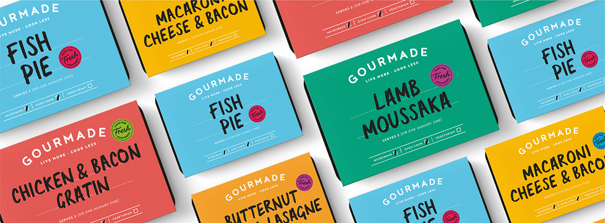 Gourmade packaging flatlay