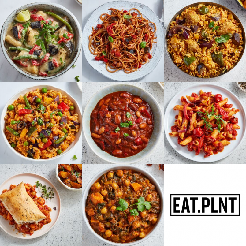 food photography vegan ready meal range